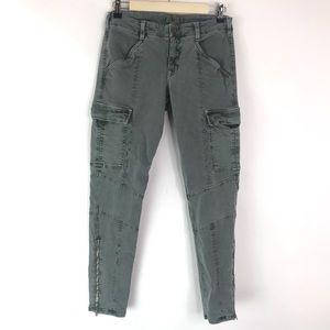 J Brand Vintage Olive Houlihan Zipper Cargo Jeans